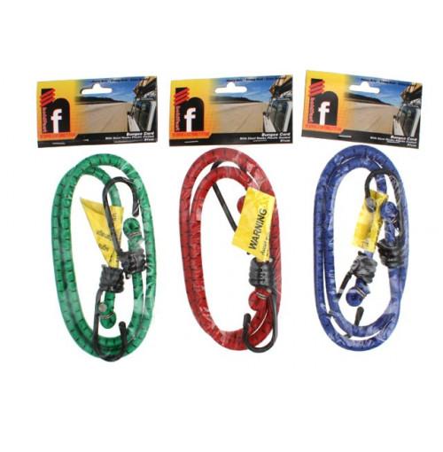Bungee Cord 91cm Steel Hooks Plastic Coated