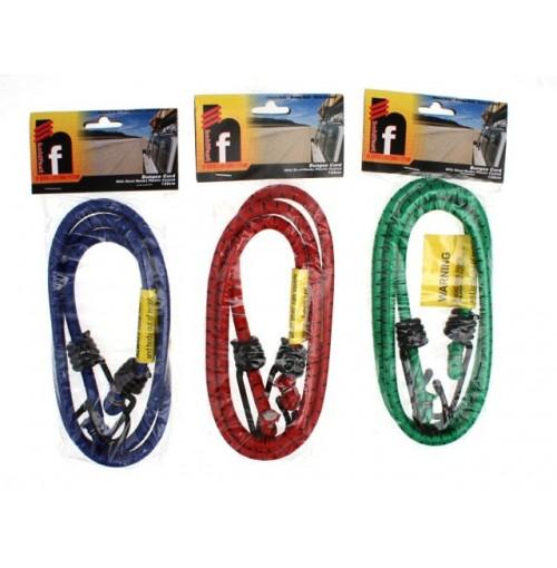 Bungee Cord 122cm Steel Hooks Plastic Coated
