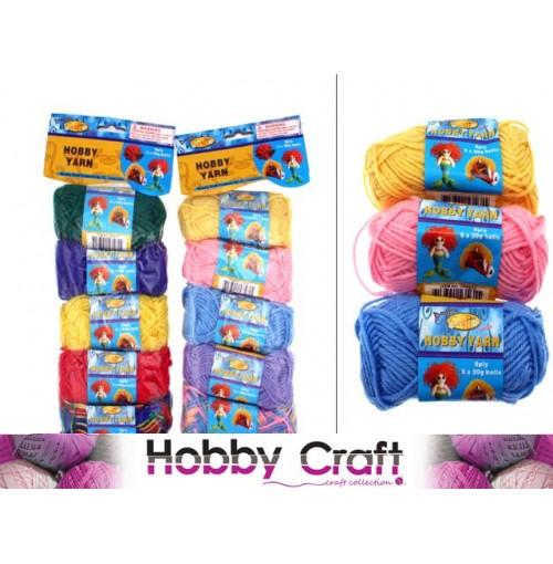 Yarn Hobby 8 Ply 5pk 20g Ea