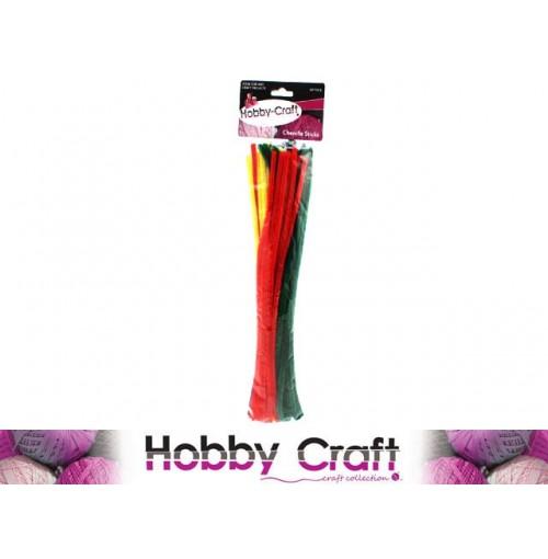 Chenille Sticks 60pcs Assorted Colors