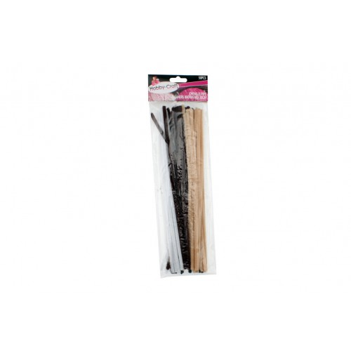 Chenille Pipe Cleaners Brown Mix 50pce 30cm