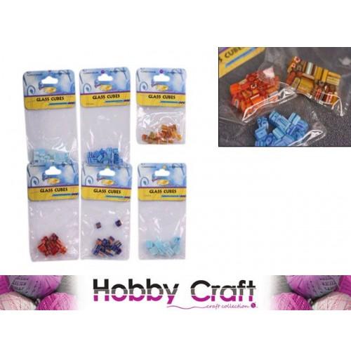 Craft Glass Cubes 2 Sizes Colrs 8mmx8mm 6mmx6mm