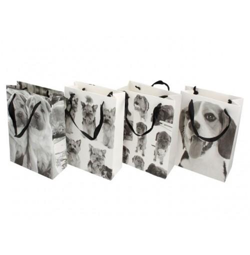 G/Bag Dog Des Blk & Wht Sml Size 18x8x24cm