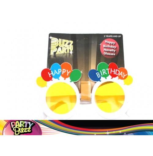 Novelty Glasses Happy Birthday