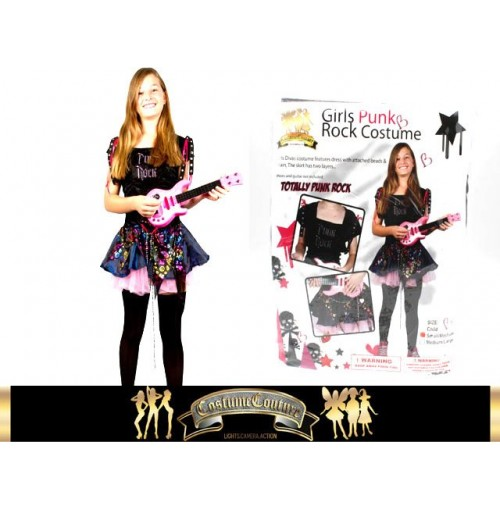 Girl Teen Punk Rock Costume 2 Sizes