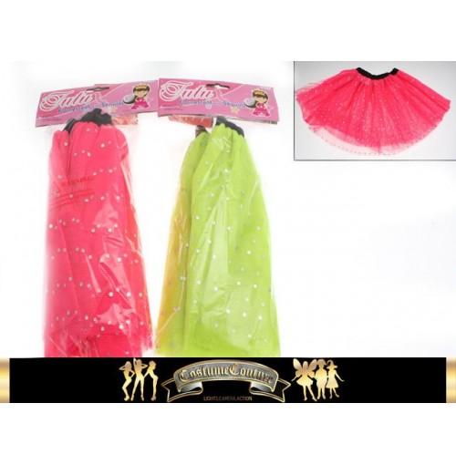 Kids Tutu Fluro With Sequins