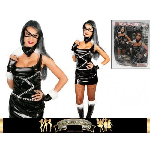 Black Cat Deluxe Costume 6pc 2 Sizes