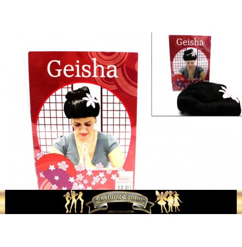 Wig Geisha W/Flower