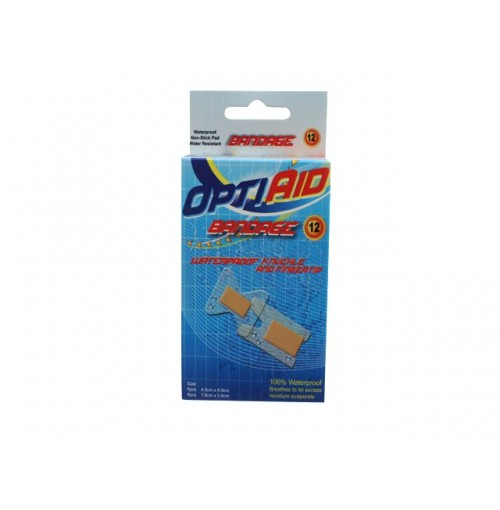 Opti Aid Bandage Water Proof Knuckle And Finger 12pk