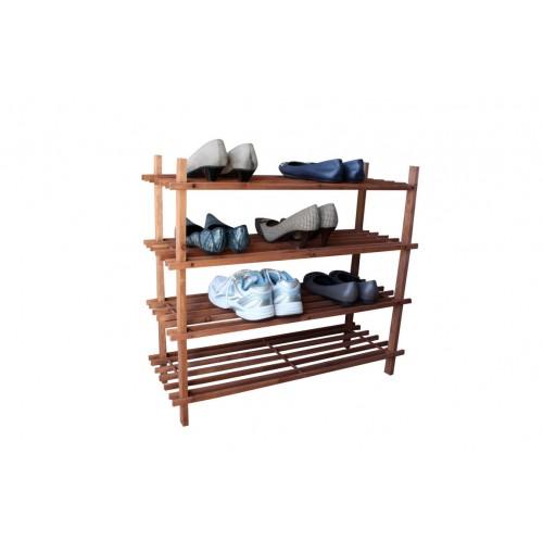 Shoe Rack Wooden 4 Shelf