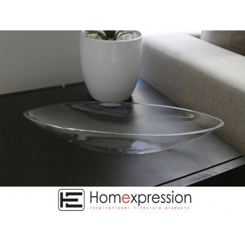 Olive Shape Glass Bowl