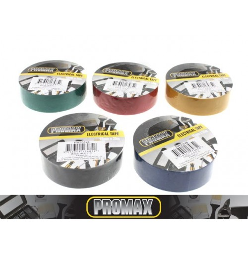 Tape Electrical 18mmx20m 5 Assorted Colors