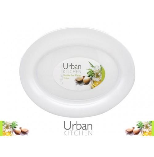 Platter Durable White 39.5cm