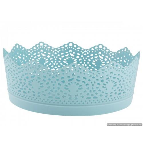 Storage Basket Lace Design 19x8cm 4 Clrs