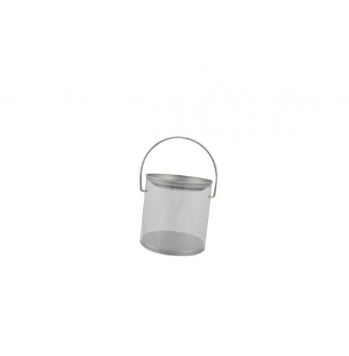 Clear Bucket W/Lid And Handle 0.45l 8.5x9cm