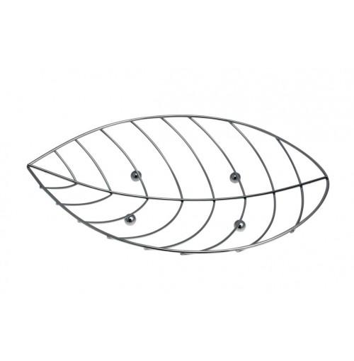 Fruit Bowl Leaf Chrome Metal