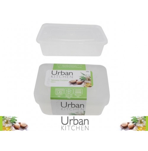 Take Away Container 500ml 4pk 175x122x40mm