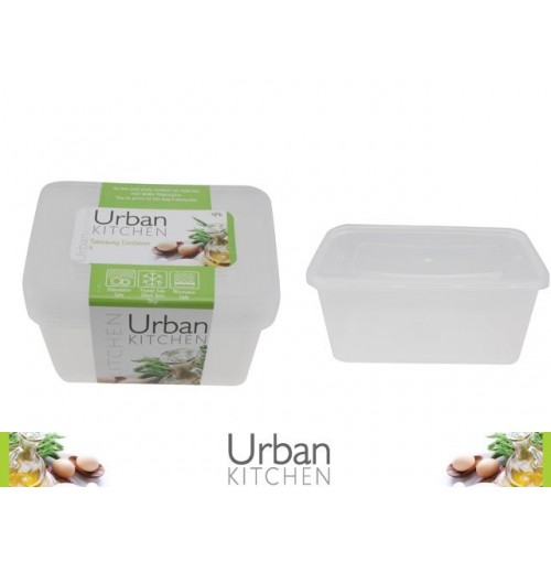Take Away Container 1l 4pk 175 X 122 X 66mm