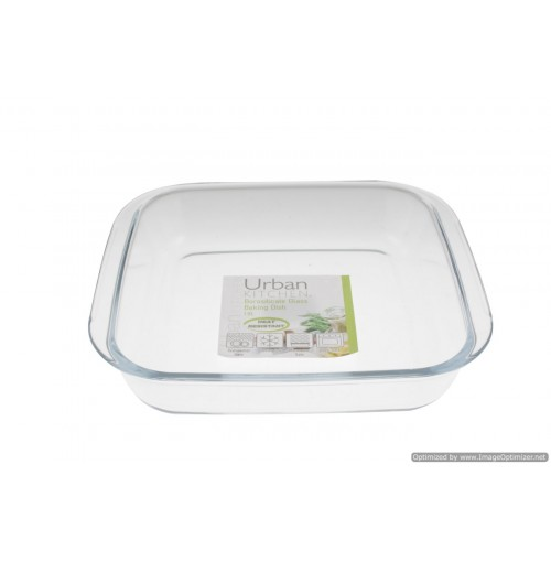 Heat Resist Borosilicate Glass Baking Dish 25x23x5cm 1.8l