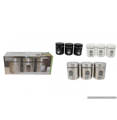 Glass Storage Containers With Metal Jacket 650ml