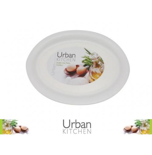 Platter White Oval 53x38cm