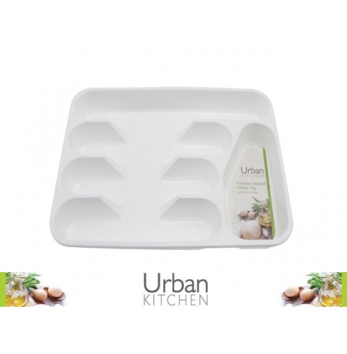 Cutlery Tray Standard Wht 5 Sections 33x25cm
