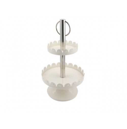 2 Tier Cake Stand Milky