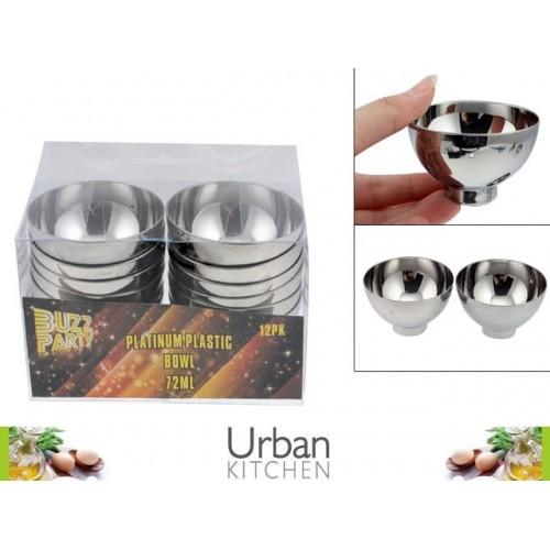 Platinum Plastic Bowl Mini 12pc 6.5x4cm Acetate Box 72ml