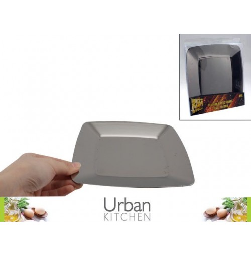 Platinum Plastic Plate Square 6pc 19x19cm Acetate Box