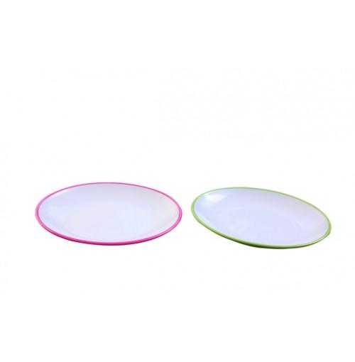 Two Tone Plate 20cm Melamine