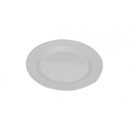 Weave Plate 20cm Melamine White
