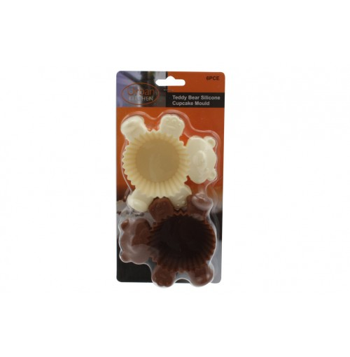 Teddy Bear Fun Cups 6pc Silicone