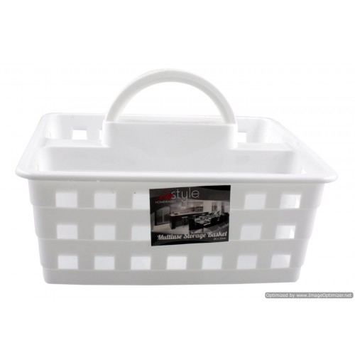 Multi Use Caddy White 26x23cm