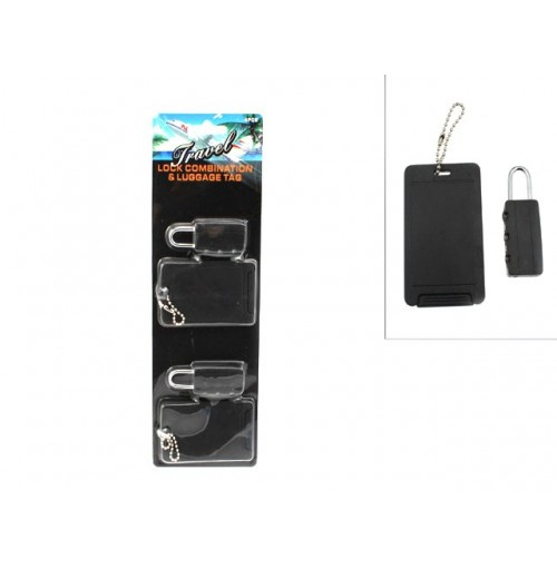 Lock Combination & Luggage Tag 4pc