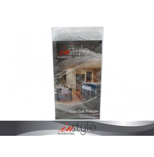 Table Cloth Protector Clear Round 178cm Diameter