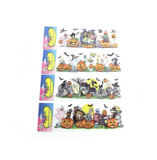 Halloween Small Scary Window Stickers Pack