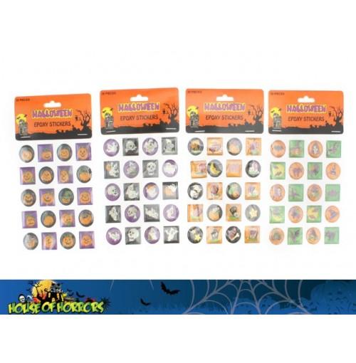 Stickers Halloween Epoxy 20pc