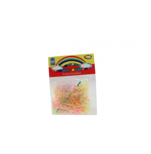 Loom Bands Transparent 300pce One Colour Per Pack