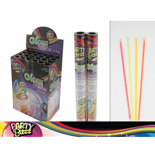 Glow Sticks In Tube 15 Pcs/Box 20cm Assorted Colors