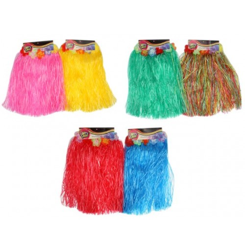 Hula Skirt Kids Hawaiian 40cm Long