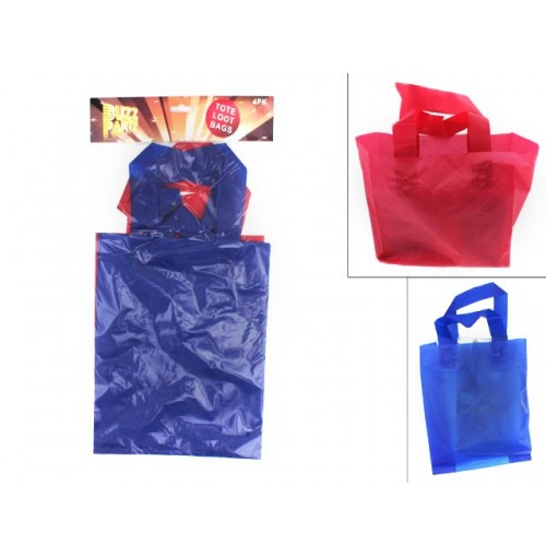 Bags Loot Party Tote 4pc 2 Assorted Color