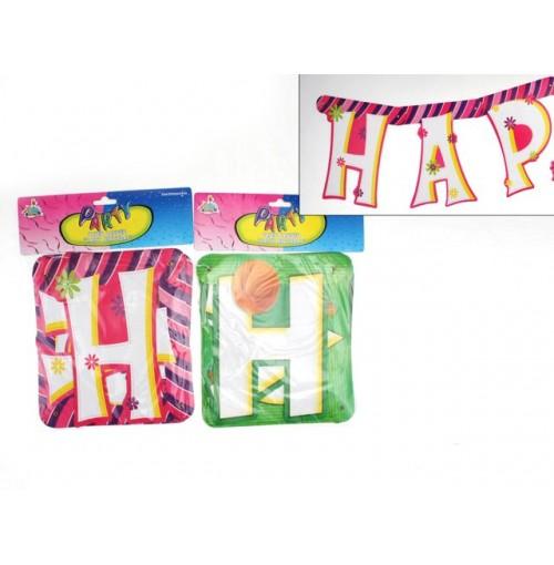 Birthday Banner Die Cut 240-19cm