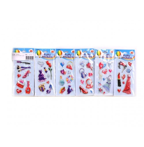 Glamour Girl Puffy Stickers
