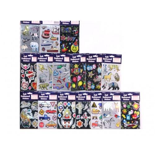 Stickers Foil Embossed Metallic
