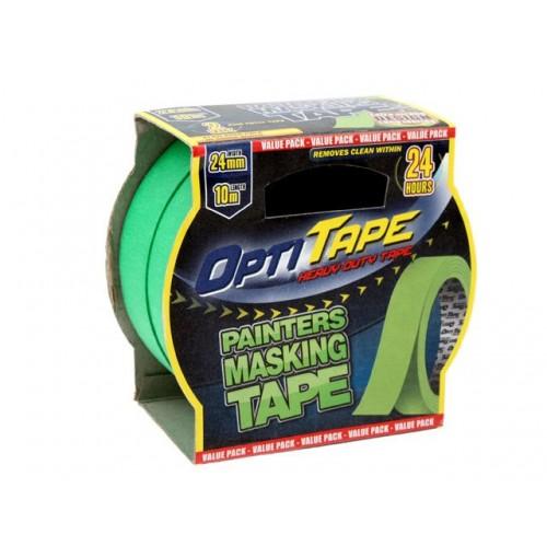 Opti Tape Painters 2pce 24mm X 10m Sleeve Card