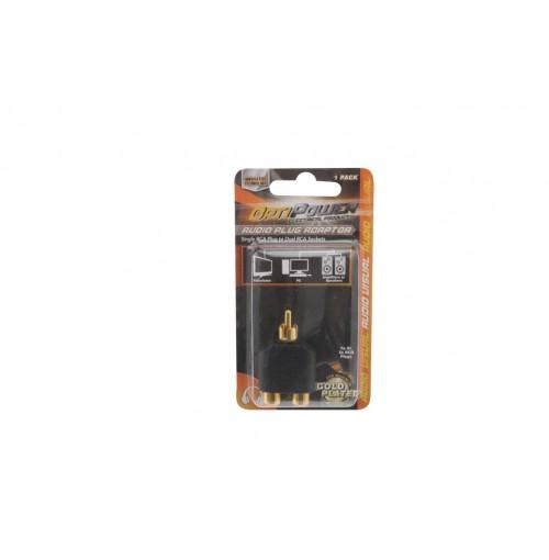 Opti Power Plug Converts Two Rca Plugs To Single Rca Plug
