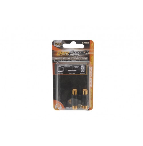 Opti Power Socket Dual Female To Female Jack Cable Joiners