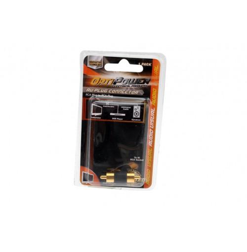 Opti Power Plug Connects Rca Plug To Rca Plug