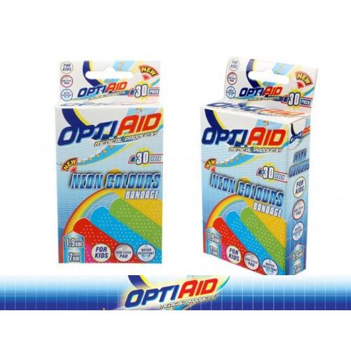 Opti Aid Bandaids Neon Colour 30pk