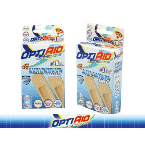 Opti Aid Bandage Plastic Regular 30pk